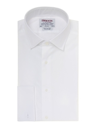 T.M.Lewin Marcella Plain Fully Fitted Dress Shirt White