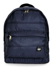 Topman Hype Navy Quilted Backpack Blue
