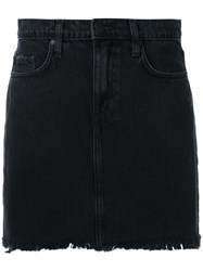 Nobody Denim Split Skirt Black