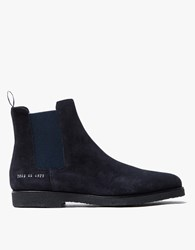 Common Projects Chelsea Boot In Navy Suede 20Th Anniversary