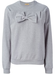 Peter Jensen Bow Detail Sweatshirt Grey
