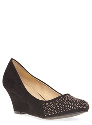 Evans Extra Wide Fit Wedge Heeled Shoes Black