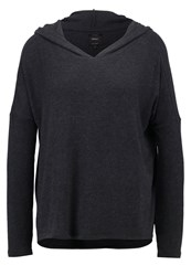 Only Onleva Long Sleeved Top Dark Grey Melange