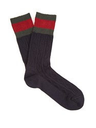 Gucci Campaign Cable Knit Socks