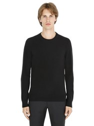 Maison Martin Margiela Wool Sweater With Leather Elbow Patches
