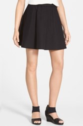 Eileen Fisher The Fisher Project Organic Cotton Flare Short Skirt Black
