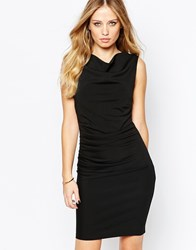 Y.A.S Laneway Ruched Pencil Dress Black