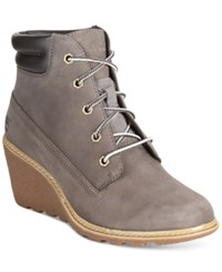 Timberland Women's Earthkeepers Amston Wedge Booties Women's Shoes Grey