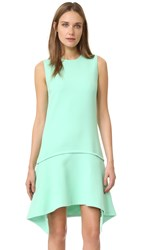 Victoria Beckham Draped Skirt Dress Pale Mint