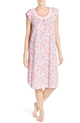 Women's Midnight By Carole Hochman Print Cotton Nightgown