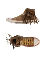 Htc High Tops And Trainers Brown
