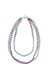Missoni Triple Beaded Necklace Blue