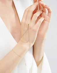 Asos Simple Bar Hand Harness Gold