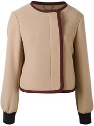 Chloe Cropped Bomber Nude Neutrals