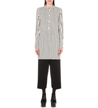 Mcq By Alexander Mcqueen Striped Tunic Shirt White Black Stripe