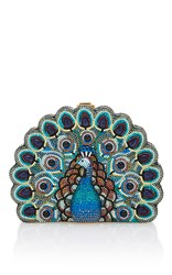 Judith Leiber Couture Peacock Clutch Multi