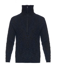 Bottega Veneta Roll Neck Zip Front Sweater