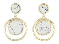 Karen Kane California Current Drop Earrings White Earring
