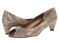 Vaneli Baxter Taupe Print Women's 1 2 Inch Heel Shoes