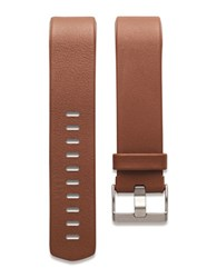 Fitbit Charge 2 Leather And Stainless Steel Large Accessory Band Brown