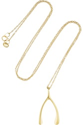 Jennifer Meyer 18 Karat Gold Wishbone Necklace