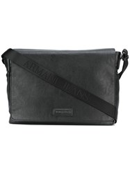Armani Jeans Large Messenger Bag Black