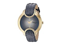 Salvatore Ferragamo Signature Fiz02 0015 Yellow Gold Grey Watches Blue