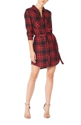Sanctuary Women's 'Jordane' Plaid Belted Shirtdress