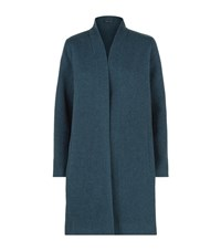 Eileen Fisher Double Face Wool Coat Female Blue