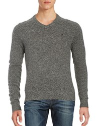 Original Penguin Marled Wool V Neck Sweater Dark Shadow