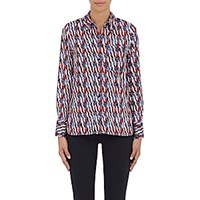 Etoile Isabel Marant Women's Gaetan Batik Inspired Cotton Shirt White
