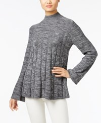 Styleandco. Style Co. Mock Neck Swing Sweater Only At Macy's Grey Combo