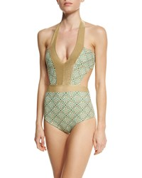 Ondademar Geoskin Printed One Piece Swimsuit
