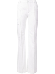 Bouchra Jarrar Flared Cargo Trousers White