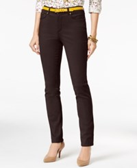 Charter Club Lexington Colored Wash Straight Leg Jeans Only At Macy's Smoky Claret