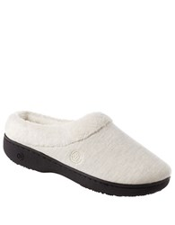Isotoner Signature Classics Jersey Hoodback Slippers Oatmeal Heather