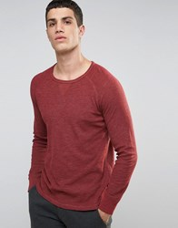 Celio Long Sleeve Top With Raglan Sleeve Bordeaux Red