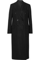 Bottega Veneta Double Breasted Cashmere Coat Black