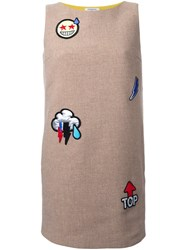 Iceberg Emoticon Patch Dress Brown