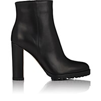 Gianvito Rossi Women's Leather Side Zip Ankle Boots Black