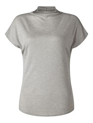 Jigsaw Turtleneck Cap Sleeve Tee Silver