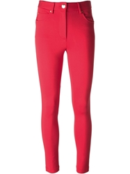 Moschino Skinny Trousers Red