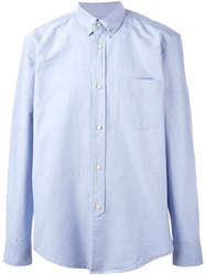 Button Down Collar Shirt Blue