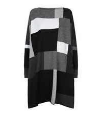 Eskandar Intarsia Squares Cashmere Long Top Female Grey