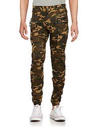 American Stitch Camo Print Tapered Moto Pants