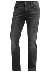 Mustang Oregan Straight Leg Jeans Black Black Denim