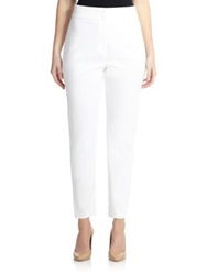 Marina Rinaldi Plus Size Stretch High Waist Pants White