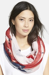 Collection Xiix 'Stars And Stripes' Infinity Scarf Red White Blue