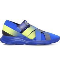 Christopher Kane Strapped Flexible Ballerina Trainers Blue
