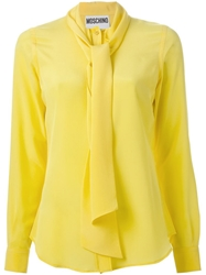 Moschino Pussybow Blouse Yellow And Orange
